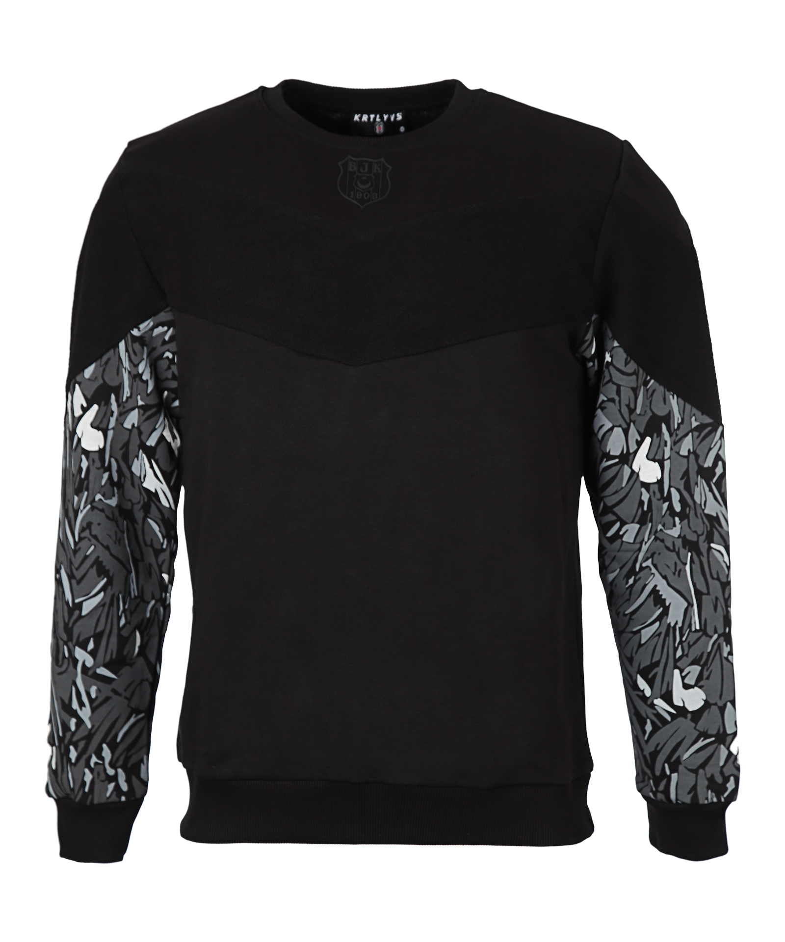 BEŞİKTAŞ FEATHER SLEEVE PRINT MEN SWEATSHIRT