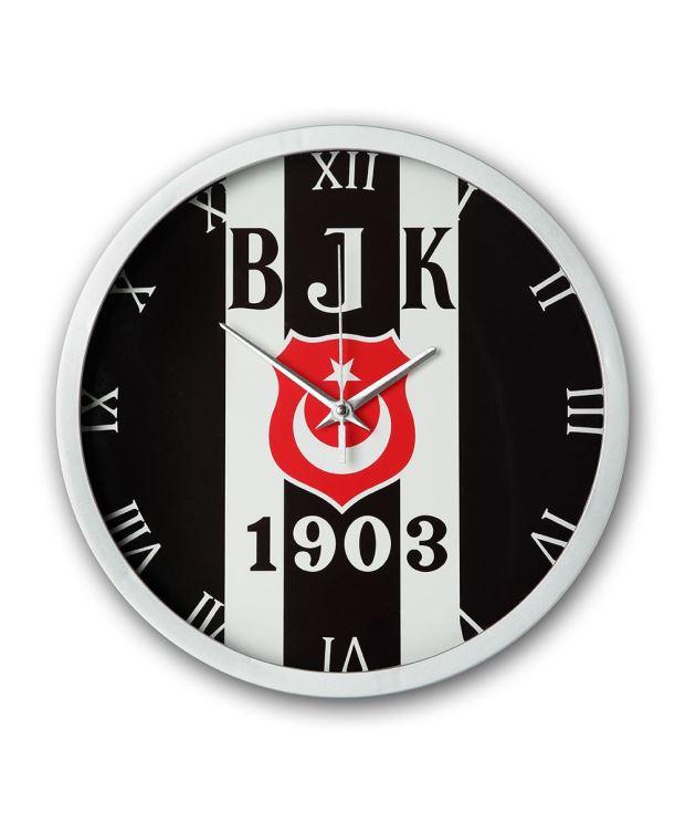 Besiktas Duvar Saati Cubuklu Logo Aksesuar Aksesuar Duvar